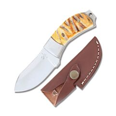 Frost Cutlery Whitetail Cutlery Chicksaw Bone Stubby Skinner Stainless Steel Blade