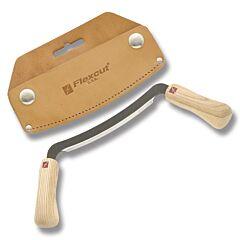 """Flexcut 5"""" Flexible Draw Knife with Leather Sheath"""