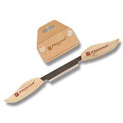 """Flexcut 3"""" Flexible Draw Knife with Leather Sheath"""