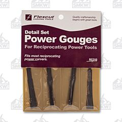 Flexcut 4 Piece Detailing Gouges for Reciprocating Power Tools