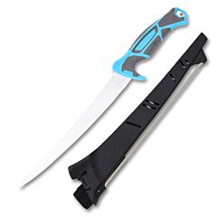Gerber Salt Controller Fillet Knife 9Cr18MoV Stainless Steel Blade Blue HydroTread Rubberized Handle