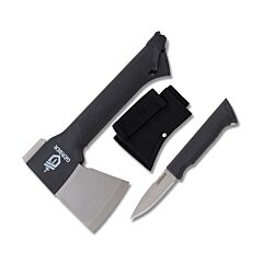 Gerber Gator Combo Axe with Glass-filled Nylon Gator Grip handle and Forged Stainless Steel Blades Model 31-001054