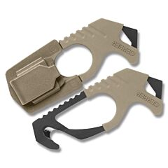 Gerber Strap Cutter Desert Tan with One Piece 420HC Stainless Steel Construction  Model 30-000132