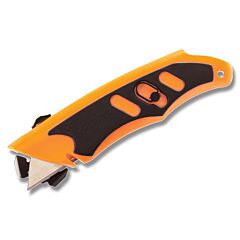 Gerber Transit 2-in-1 with Orange and Black Textured Rubber Handle and Standard Utility Blade Model 30-000416