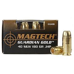 Magtech Guardian Gold 40 S&W 180 Grain Jacketed Hollow Point 20 Rounds