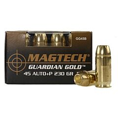 Magtech Guardian Gold 45 ACP +P 230 Grain Jacketed Hollow Point 20 Rounds