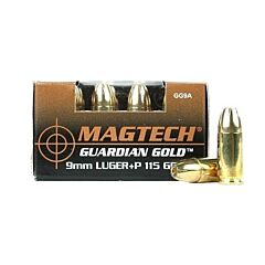 Magtech Guardian Gold 9mm +P 115 Grain Jacketed Hollow Point 20 Rounds
