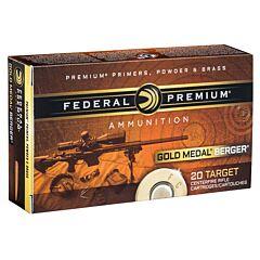 Federal Premium Gold Medal 6.5 Creedmoor 130 Grain Open Tip Match 20 Rounds