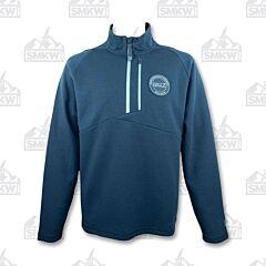 Gillz Men's Contender Fleece Quarter Zip Blue