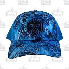 Gillz Trucker Hat Hex Patch Hawaiian Ocean Blue