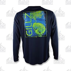 Gillz Men's Long Sleeve UV Maui Blue