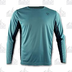 Gillz Men's Long Sleeve Waterman Scales V2 Green