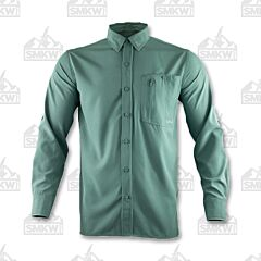Gillz Men's Long Sleeve Deep Sea Woven Green