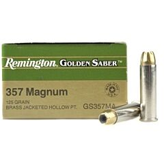 Remington Golden Saber 357 Magnum 125 Grain Brass Jacketed Hollow Point 25 Rounds