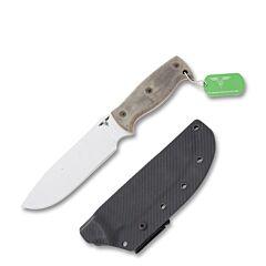 GTI Custom Afghan 5160 Carbon Steel Blade Green Micarta Handle
