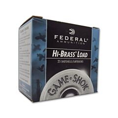"Federal Game Shok High Brass Lead 12 Gauge 2.75"" 1-1/4 oz #6 Lead shot 25 Rounds"