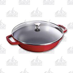 "Staub Cast Iron 12"" Wok Perfect Pan"