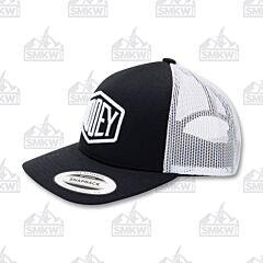 Hooey Plush Black/White Trucker Hat