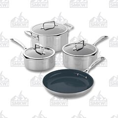 Zwilling J.A. Henckels Clad CFX 7PC Stainless Steel Ceramic Nonstick Cookware Set