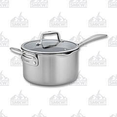 Zwilling J.A Henckels Clad CFX Stainless Steel Ceramic Nonstick 4 Qt. Saucepan