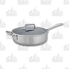 Zwilling J.A Henckels Clad CFX Stainless Steel Ceramic Nonstick 5 Qt. Saute Pan With Helper Handle