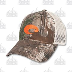 Costa Mesh Hat Camo Stone and Orange