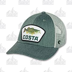 Costa Topo Largemouth Bass Trucker Hat Green
