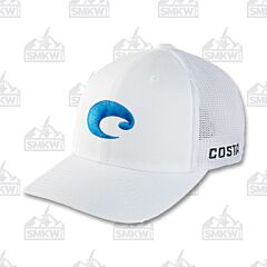 Costa Flex Fit Logo Trucker Hat White
