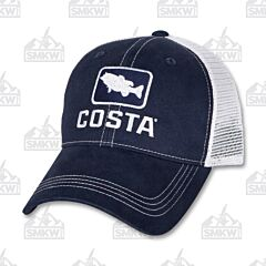 Costa Bass Trucker Hat Navy and White