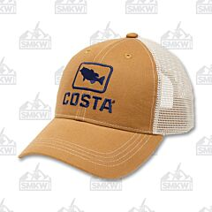 Costa Bass Trucker Hat Working Brown