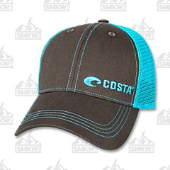 Costa Neon Twill Trucker Hate Blue