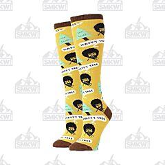 Oooh Yeah! Bob Ross Happy Tree Knee High Women's Crew Socks