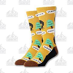Oooh Yeah! Happy Tree Bob Ross Men's Athletic Socks