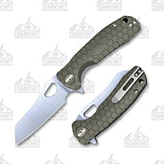 Honey Badger Wharncleaver Medium Green Flipper Linerlock