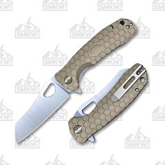 Honey Badger Wharncleaver Small Tan Flipper Linerlock