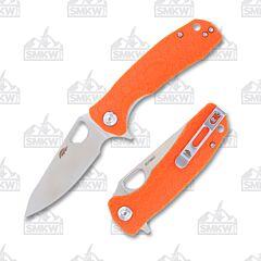 Honey Badger Medium Leaf Orange Handle