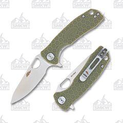 Honey Badger Small Leaf Green Handle