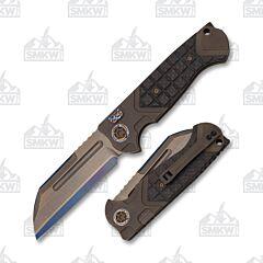 Heretic Knives Custom ADV Butcher Bronze Anodized Titanium