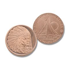 Sitting Bull 1 oz Copper Round