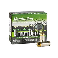Remington Ultimate Defense .40 S&W 180 Grain Jacketed Hollow Point 20 Rounds