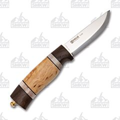Helle Trofe Stainless Steel Blade Oak/Leather/Staghorn/Curly Birch Handle