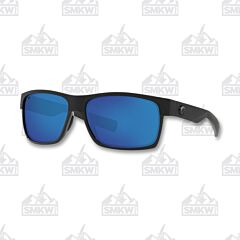 Costa Half Moon Shiny Black Matte Sunglasses