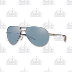 Costa Helo Aviator Matte Silver Sunglasses