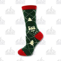 Oooh Yeah! Holiday Times Bob Ross Women's Crew Socks