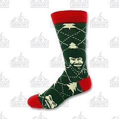 Oooh Yeah! Holiday Times Bob Ross Men's Crew Socks