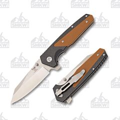 Hen & Rooster Black & Brown Linerlock