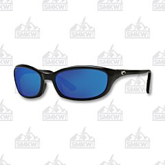 Costa Harpoon Shiny Black Plastic Sunglasses