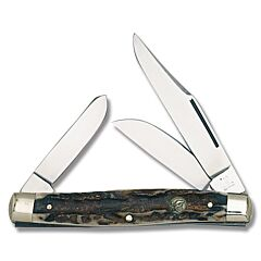Hen & Rooster Stag Three Blade Stockman