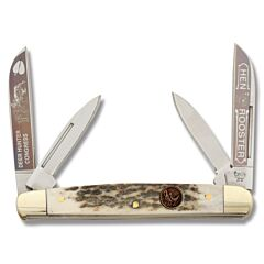 Hen and Rooster Deer Stag Hunter Congress Stainless Steel Blades