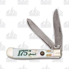 Hen & Rooster 175th Anniversary Resin Coated Mother of Pearl Trapper